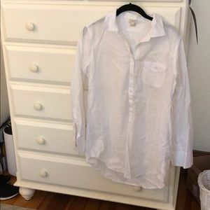 J crew button down cover up